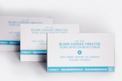 Business Card Blank Canvas Creative