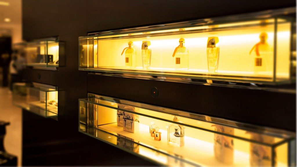 Side shot of luxury vitrines
